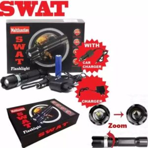 SWAT Rechargeable Multifunction Flashlight Torch